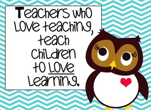 Teachers who love teachine