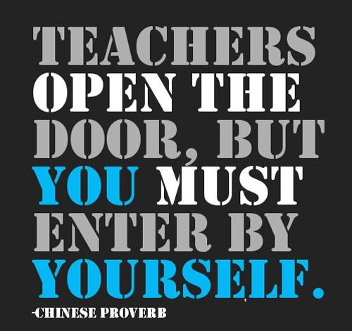 giáo viên là người mở cánh cửa