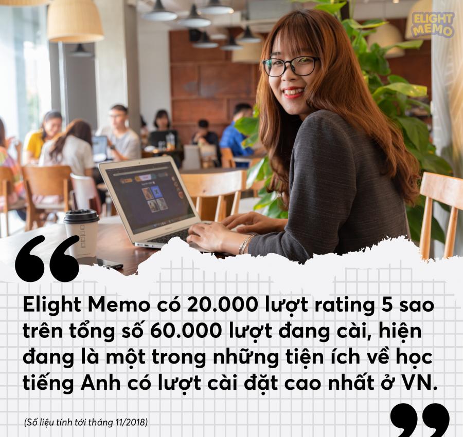 Elight memo có hơn 20.000 lượt rating 5 sao