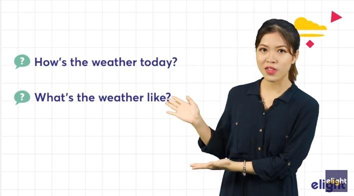 thời tiết trong tiếng Anh - từ vựng và cấu trúc cơ bản