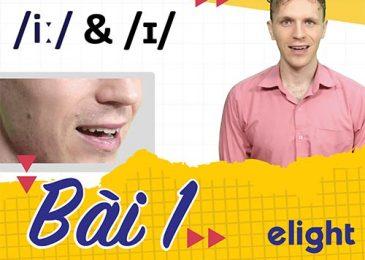 22 ngày học phát âm tiếng Anh cùng Elight – Ngày 1: Phát âm cặp âm /i:/ & /ɪ/