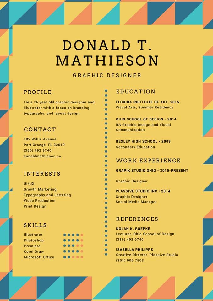 Mẫu CV tiếng Anh 3