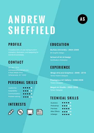 Mẫu CV tiếng Anh 4