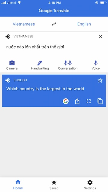 Google Dịch - Dịch tiếng Anh Audio