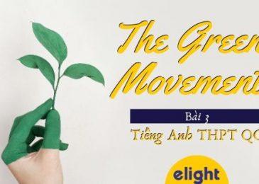 Từ vựng tiếng Anh lớp 12 – Unit 3: The green movement