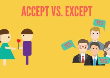 """Phân biệt """"accept"""" và """"except"""""""