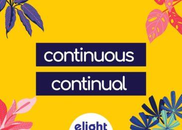 Phân biệt Continuous và Continual