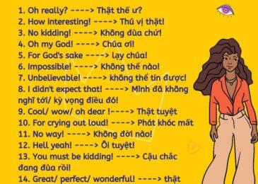 20 cách để diễn tả sự HỨNG THÚ (EXCITEMENT) trong tiếng Anh