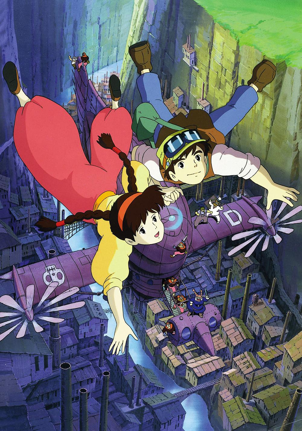 phim hoạt hình lâu đài trên không ghibli