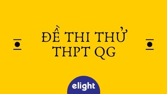 Đề thi thử THPT QG