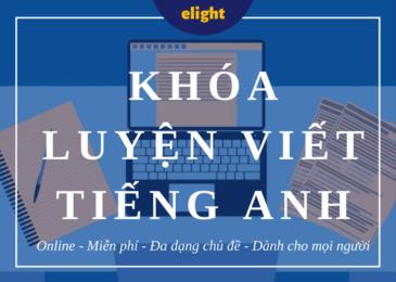 Khóa học luyện viết tiếng Anh miễn phí trên Internet