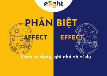 Phân biệt 'affect' và 'effect': Cách sử dụng,ghi nhớ và ví dụ.