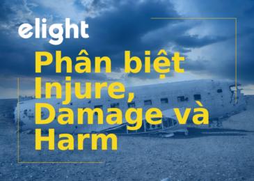 Phân biệt từ đồng nghĩa: Sự khác nhau giữa Injure, Damage và Harm